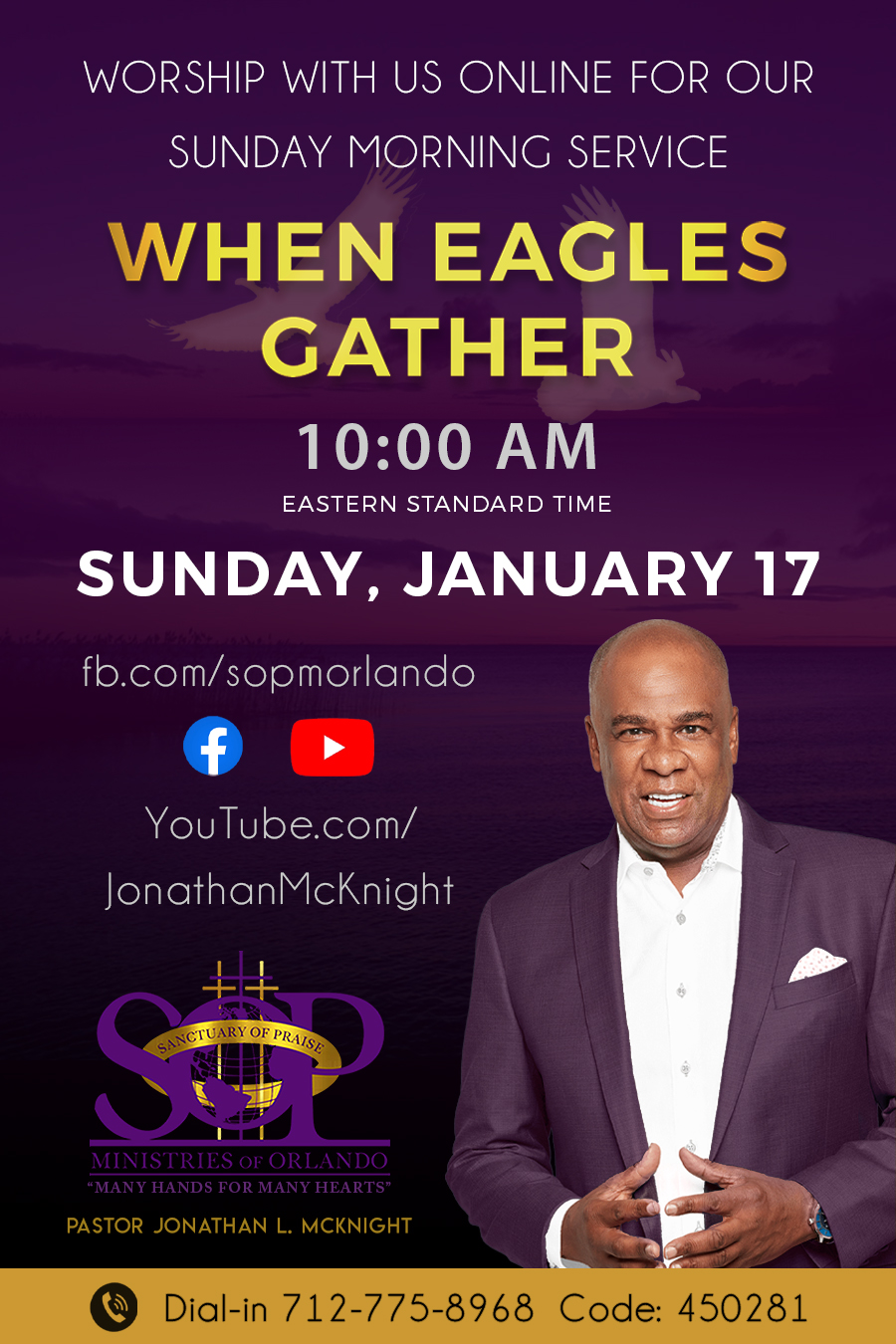 Sunday Morning Service on Facebook Live ad