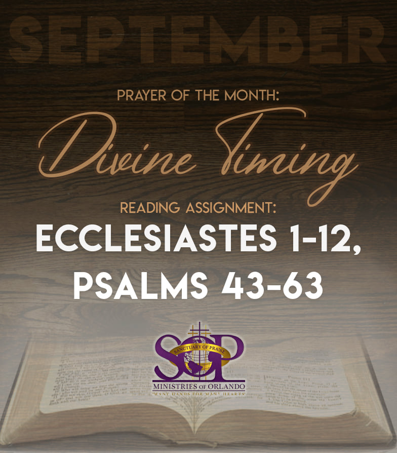 Scriptures to read for the month of September